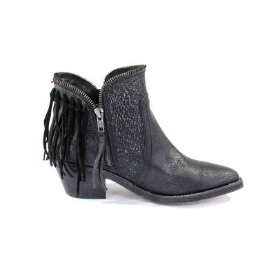 Corral Women's Black Fringe Zip Up Shortie Boots