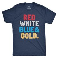 Rowdy Gentleman Men's Red White Blue and Gold T-Shirt