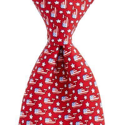 Vineyard Vines Stars and Whales Printed Tie