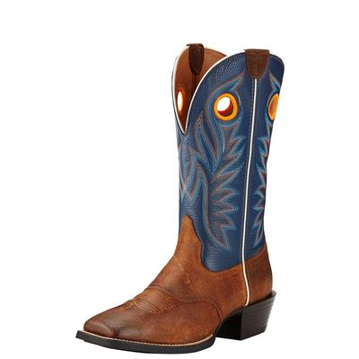 Ariat Men's Sport Outrider Blue And Brown Boots
