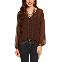 Ariat Women's Lilly Brown Button-Up