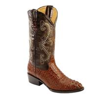 Ferrini Men's Rust Caiman Crocodile Print Boots