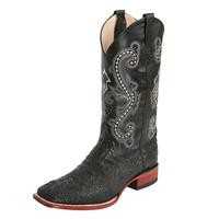 Ferrini Men's Caiman Print Brown Sole Boots