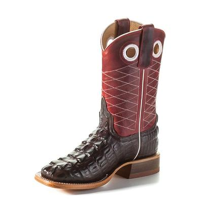 Anderson Bean Kids Chocolate Caiman Red Apple Boots