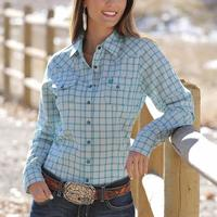 Cinch Women's Performance Plaid Snap Shirt