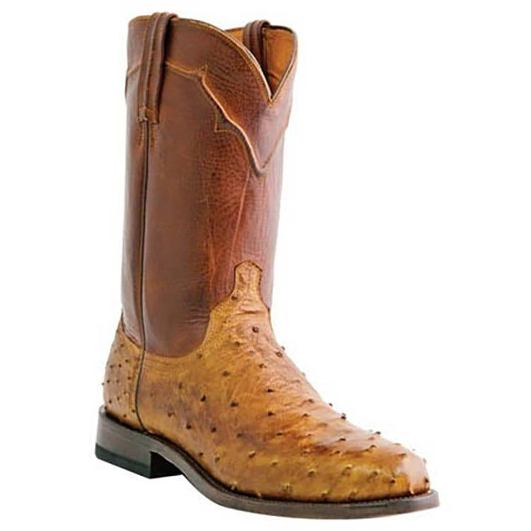 2541bcdd6e9 Lucchese Mens Coleman Tan Ostrich Boots