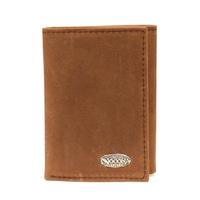 Nocona Mens Distressed Medium Brown Trifold Wallet