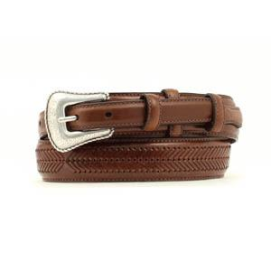 Nocona Mens Brown Ranger Arrow Belt