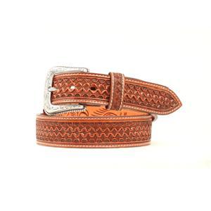 Nocona Mens Tan Basket Weave Belt