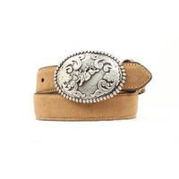 Nocona Kids Light Brown Bull Rider Belt