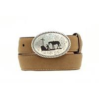 Nocona Kids Tan Cowboy Prayer Belt