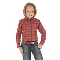 Wrangler Girl's Rock 47 Red and Purple Plaid Shirt