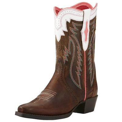 Ariat Girl's Pink Trim Calamity Rodeo Boots