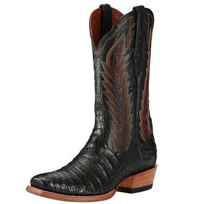 Ariat Men's Turnback Black Caiman Boots