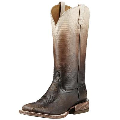 Ariat Women's Ombre West Chocolate Lizard Boots