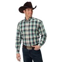 Roper Men's Sage Plaid Shirt
