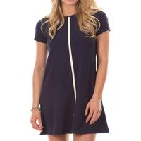 Duffield Lane Women's Addison Dress In Navy And Eggnog