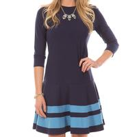 Duffield Lane Women's Chelsea Dress In Navy With Niagara