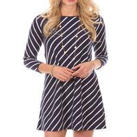 Duffield Lane Women's Kendall Dress In Navy Stripes