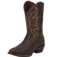 Justin Men's All Star Chocolate Stampede Western Boots