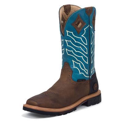 Justin Workboots Men's Peanut Wyoming Hybred Waterproof Work Boots