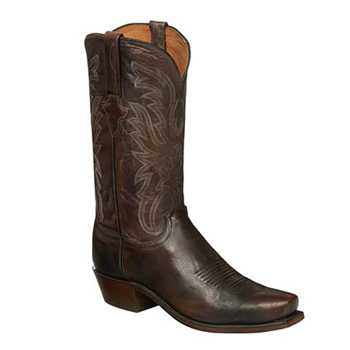 1bf3c22467e Lucchese Mens Milo Antique Pearwood Tan Boots