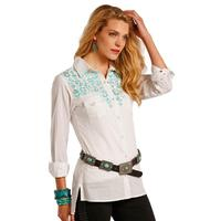 Panhandle Slim Women's Turquoise Embroidered Shirt