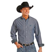 Panhandle Slim Men's Dark Blue Long Sleeve Shirt