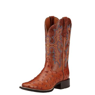 Ariat Women's Full Quill Ostrich Tombstone Boots