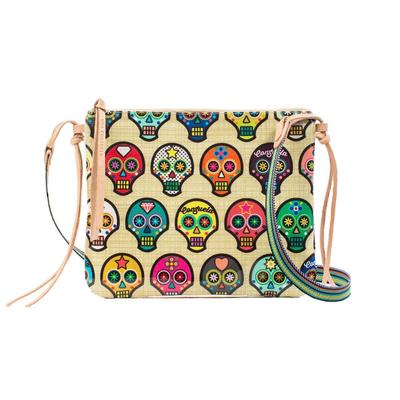 Consuela Legacy Sugar Skulls Top Zip Crossbody Purse