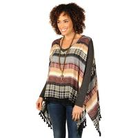 Ivy Jane Women's Plaid Sleeveless Poncho