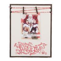 Glory Haus Sittin on Santas Lap Clothespin Clip Frame