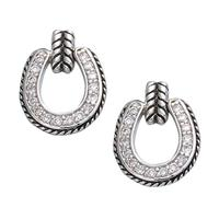 Montana Silversmiths's Crystal Horseshoe Drop Earrings.