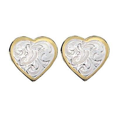 Montana Silversmiths's Gold Classic Montana Heart Earrings