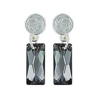 Montana Silversmiths's Elegant Smoky Glass Earrings