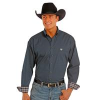 Panhandle Slim Men's Navy Diamond Print Shirt