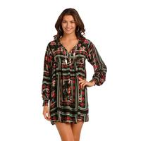 Rock and Roll Cowgirl Women's Flower Print Shift Dress