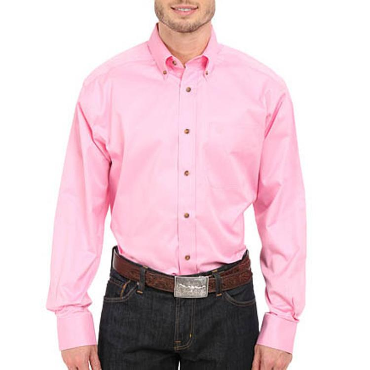 f6e6e336a2b3 Ariat Men s Solid Twill Prism Pink Classic Shirt Item   10016692