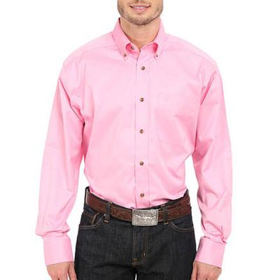 Ariat Men's Solid Twill Prism Pink Classic Shirt