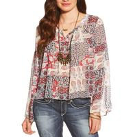 Ariat Women's Sheer Tracey Print Blouse