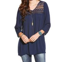Ariat Women's Georgia Crocheted Lace Tunic