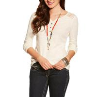 Ariat Women's Crocheted Lace Fate Henley Top