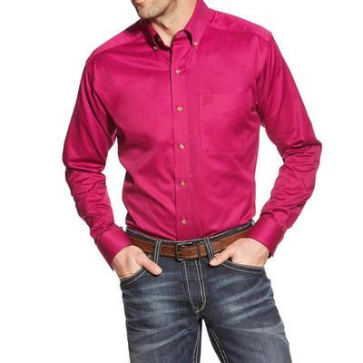 Ariat Men's Alpine Violet Solid Twill Shirt