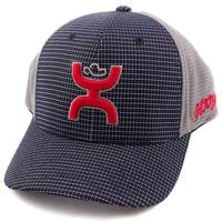 Hooey Youth Red, Navy and Grey Web Plaid Hat