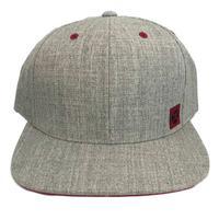 Hooey Men's Grey and Red Scoop Snapback Cap