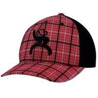 Hooey Men's Roughy Mo Red and Black Plaid Cap