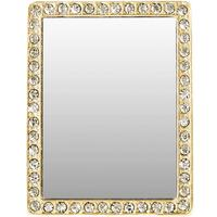 Gold and Crystal Rectangle Selfie Mirror