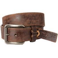 Justin Men's Burnished Brown Rugged Leather Belt