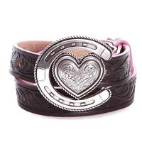 Justin Youth Houston Heart Horseshoe Belt