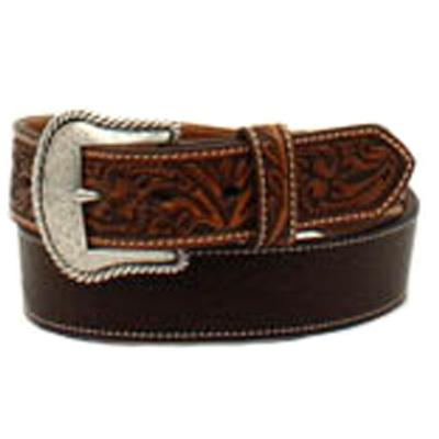 Ariat Men's Brown Tooled Ends Belt